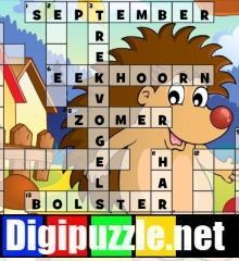 herfst-kruiswoordpuzzel