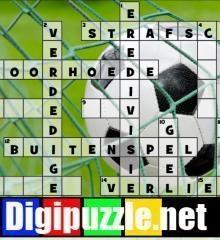 voetbal-kruiswoordpuzzel
