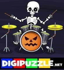 skelet-drummer