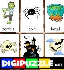halloween-woordkaarten