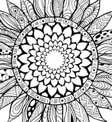 zonnebloem-mandala